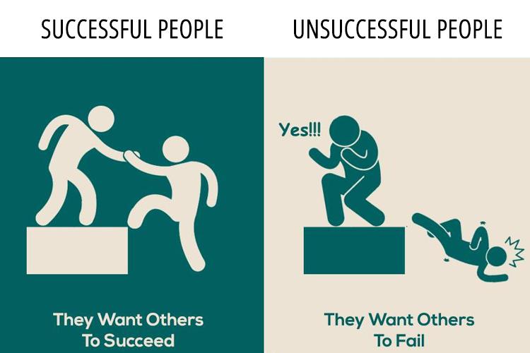 successful people vs unsuccessful please