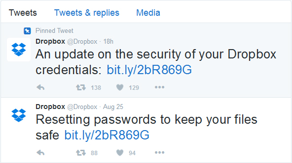 Dropbox 69 million ids leaked
