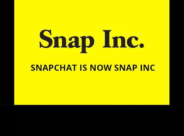 Snap chat rebrands Snap Inc