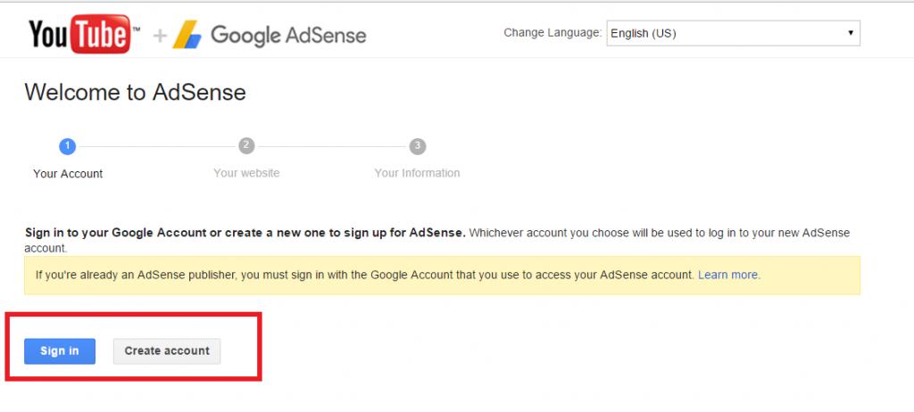 setup Google Adsense