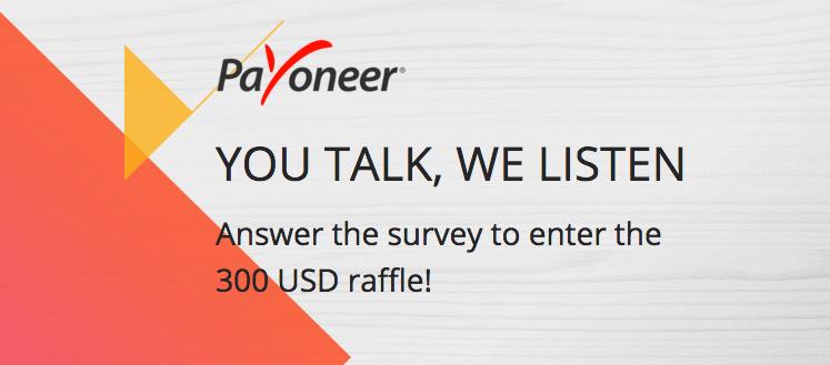 payoneer 300 giveaway