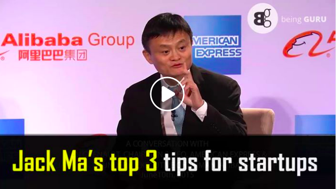 Jack Ma's Top 3 tips for successful startups