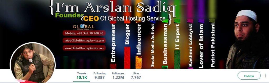 arslan sadiq twitter