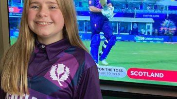 Rebecca Downie designer of T20 scotland kit